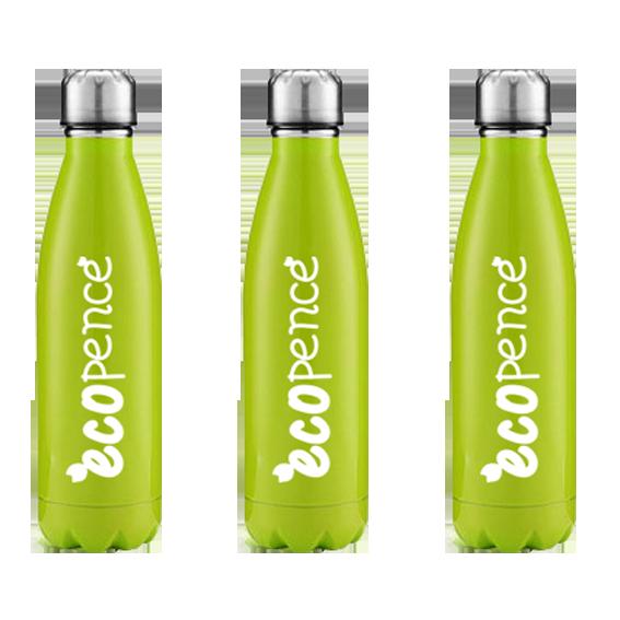 Green Stainless steel water bottle