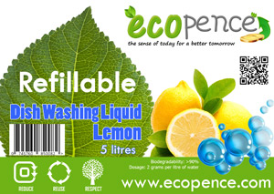 ecopence refillabel soap dishwash lemon