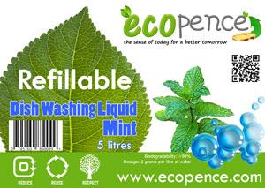 ecopence refillabel soap dishwash mint