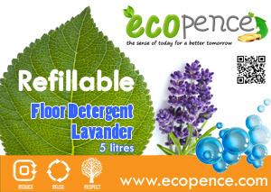 ecopence refillabel soap floor lavander