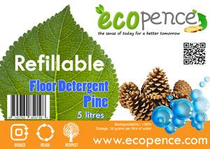 ecopence refillabel soap floor pine
