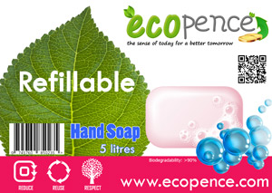 ecopence refillabel hand soap