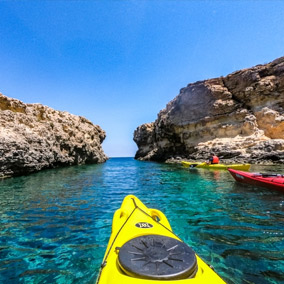 kayaking in Malta
