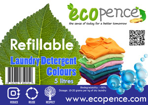 ecopence refillabel soap laundry colour