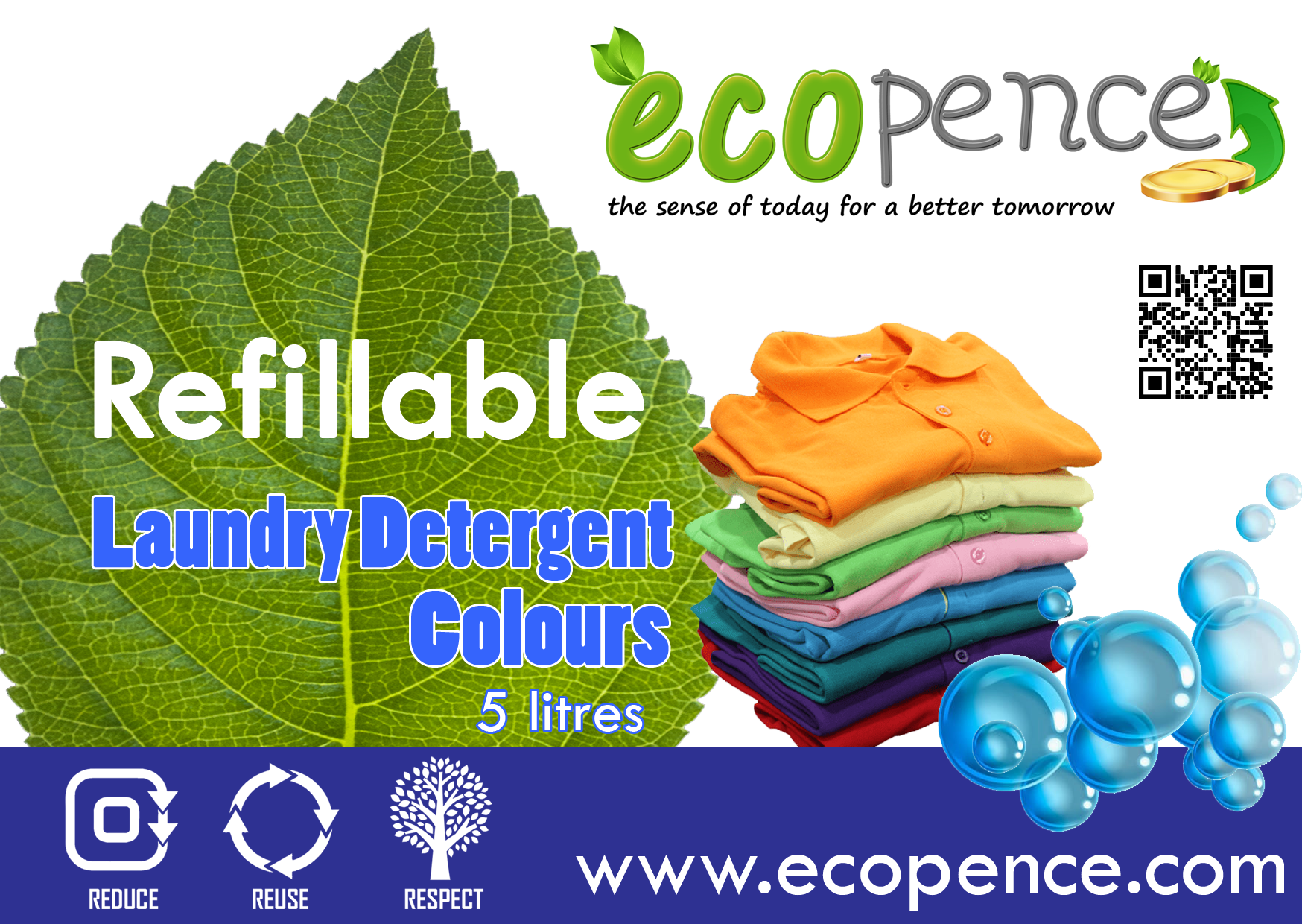 Ecopence refillable laundry colour