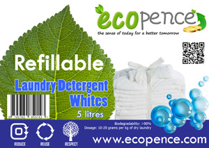 ecopence refillabel soap laundry white