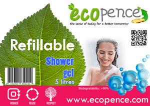 ecopence refillabel shower gel