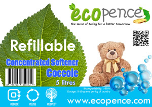 ecopence refillabel soap softener coccole