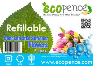 ecopence refillabel soap softener flowers