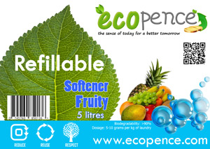 ecopence refillabel soap softener fruity