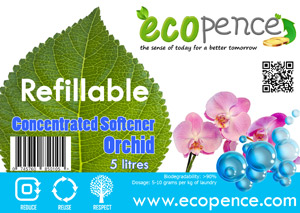 ecopence refillabel soap softener orchid