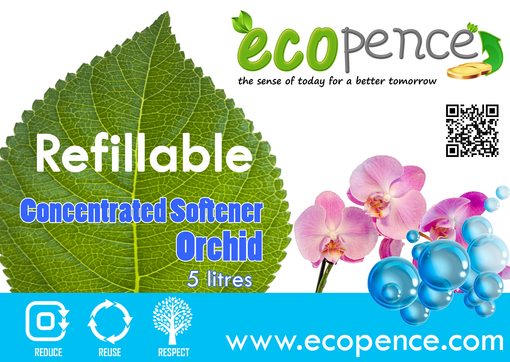 ecopence refillable softener orchid