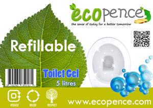 ecopence refillabel soap toilet gel