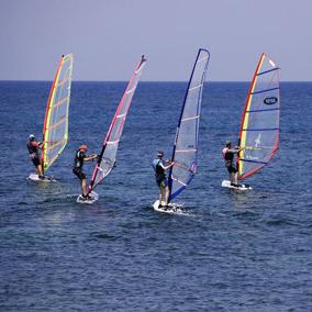 wind surfing trial Malta