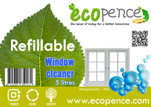 ecopence refillabel soap window cleaner