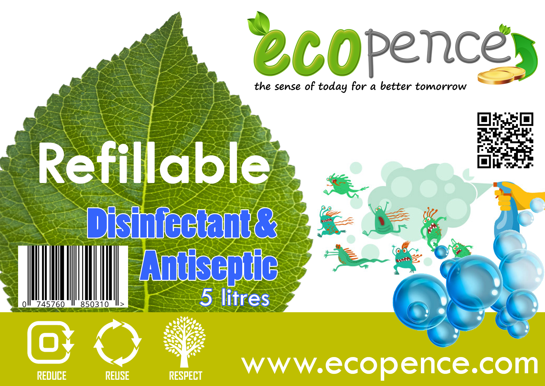 Ecopence disinfectant and antispetic